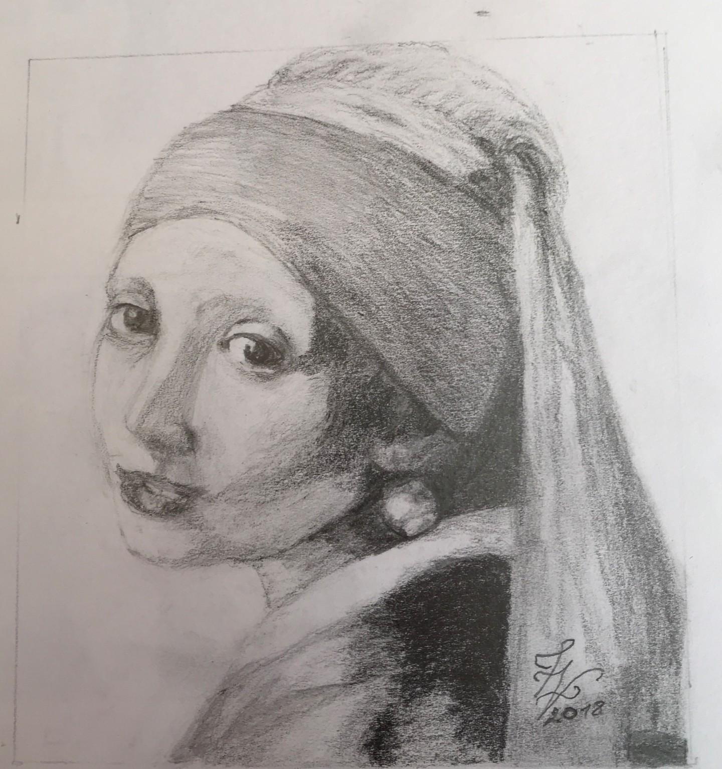 Zoé Valy - La Jeune Fille à la Perle (Johannes Vermeer)