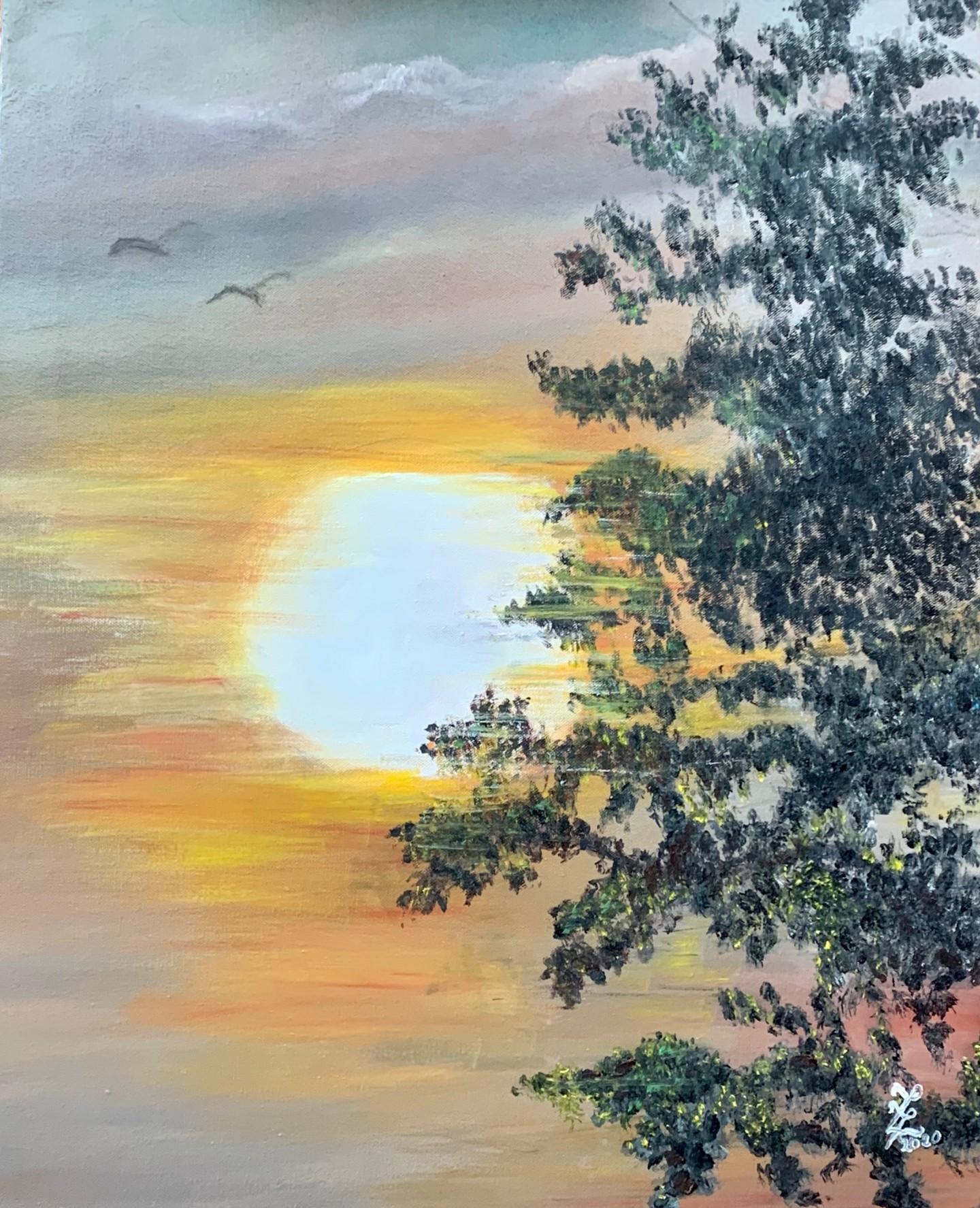 Zoé Valy - Coucher de soleil à Sainte Anne
