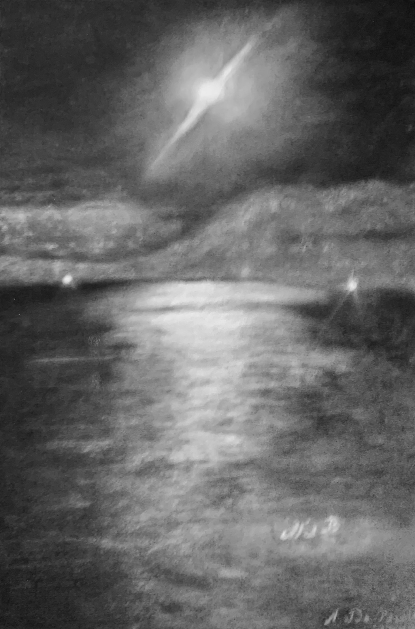 Zoé Valy - Pleine lune à Roscoff