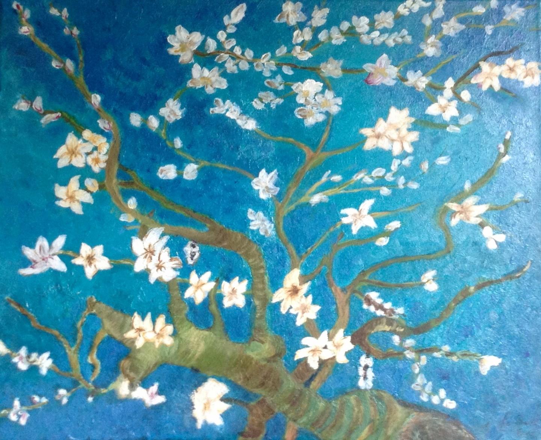 Zoé Valy - Fleurs d'Eglantier Reproduction Van Gogh