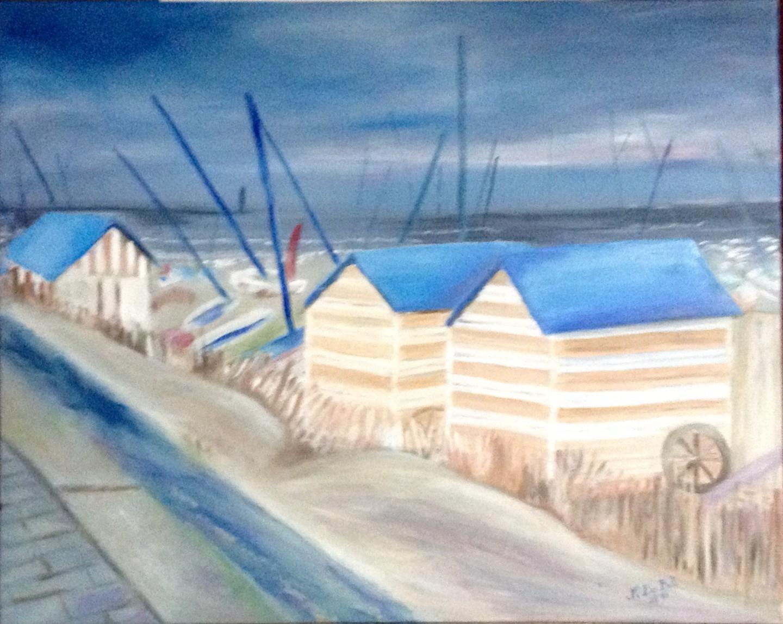 Zoé Valy - Les cabines de plage