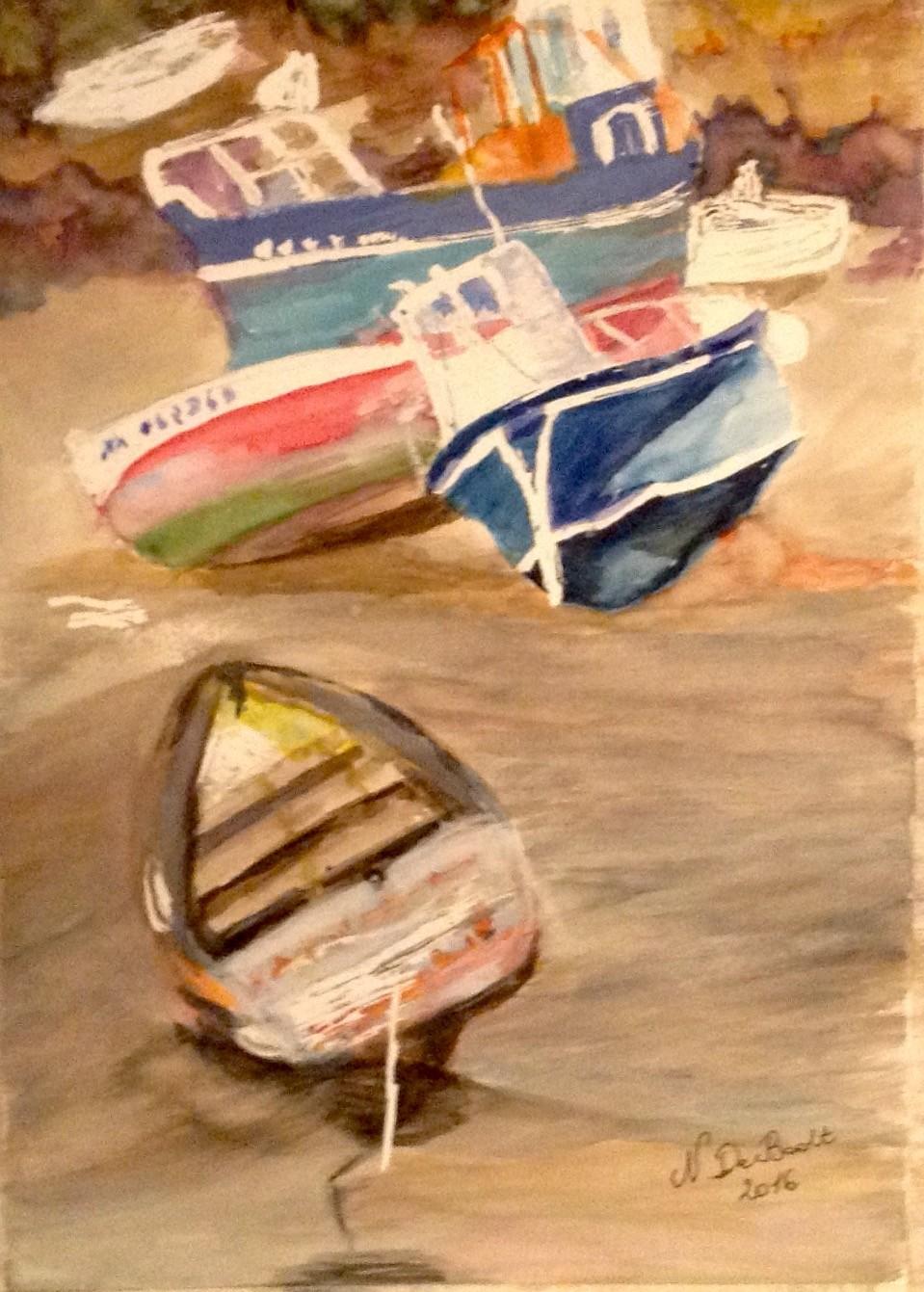 Zoé Valy - Les bateaux de l'Ile de Batz
